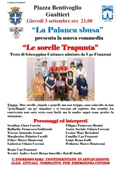 "LA PALANCA SBUSA TORNA IN PIAZZA BENTIVOGLIO CON ""LE SORELLE TRAPUNTA"""