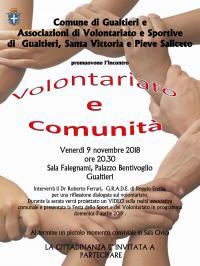 VOLONTARIATO E COMUNITA'