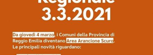 ORDINANZA REGIONE EMILIA ROMAGNA DEL 3 MARZO 2021